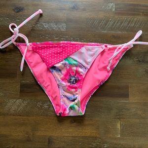 5/$25 Victoria's Secret patchwork bikini bottom